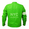 Men's Ben 10 Slim Fit Leather Jacket Back