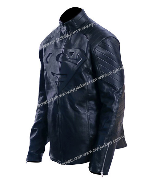 Men's Superman Smallville Black Leather Jacket