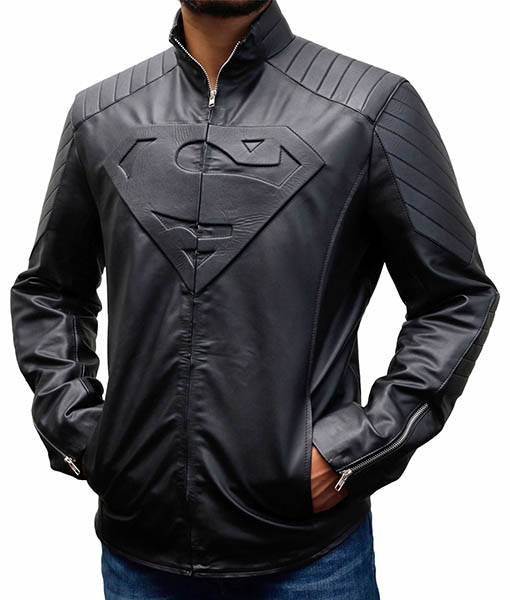 Men's Superman Smallville Jacket Black Front