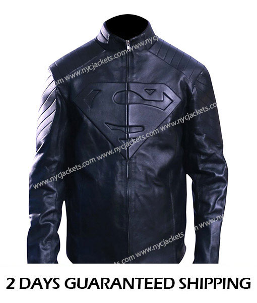 Men's Superman Smallville Jacket Black
