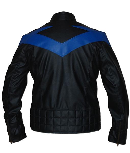 Nightwing Black Leather Costume Jacket