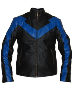 Nightwing-Black-Leather-Costume-Jacket-Front-01