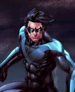 Nightwing Black Leather Costume Jacket