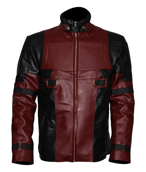 Ryan Reynolds Deadpool Leather Jacket Front