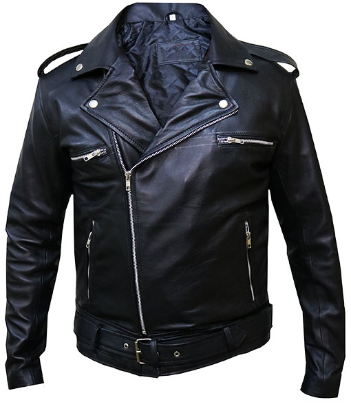 The Walking Dead Negan Leather Jacket Front
