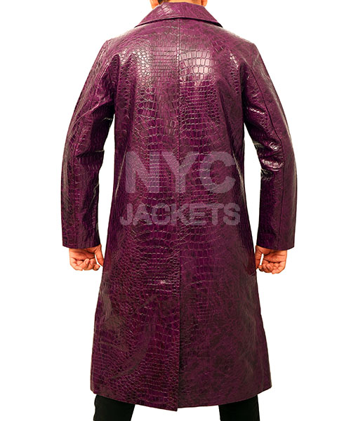Jared Leto's Joker Purple Crocodile Coat