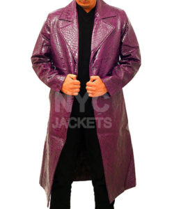 Jared Leto's Joker Purple Crocodile Coat