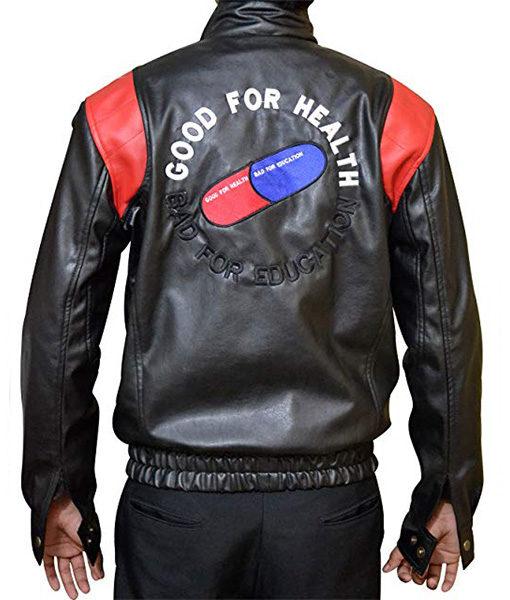 Mens Akira Kaneda Black Leather Motorcycle Jacket