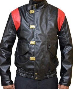 Akira Capsule Black Leather Jacket