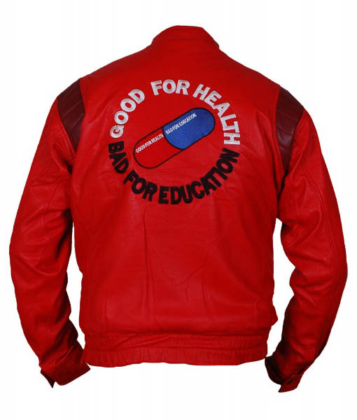 Akira Kaneda Red Leather Jacket Back