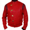 Akira Kaneda Red Leather Jacket Front