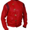 Akira Kaneda Red Leather Jacket Right