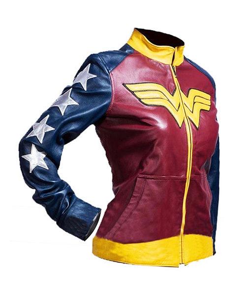 Wonder Woman Comic Leather Jacket