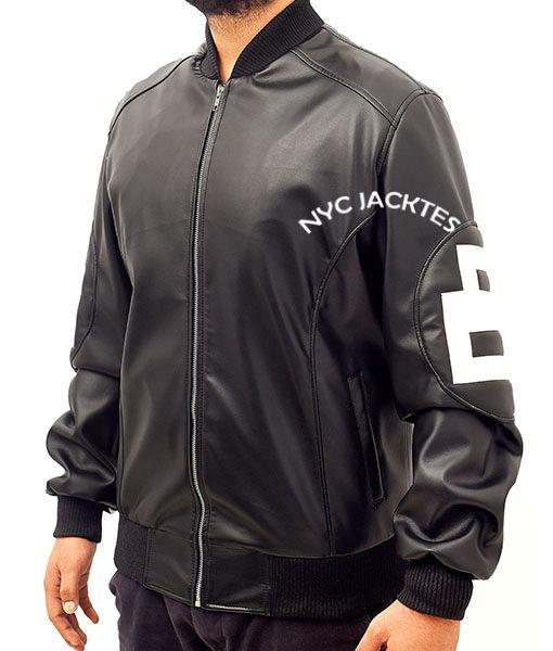 8 Ball David Puddy Black Leather Jacket