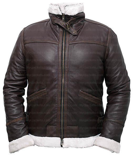 Resident Evil 4 Leon Kennedy Shearling Real Leather Jacket (3)