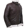 Resident Evil 4 Leon Kennedy Shearling Real Leather Jacket (4)