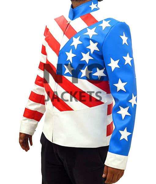American Flag Vanilla Ice leather Jacket Right