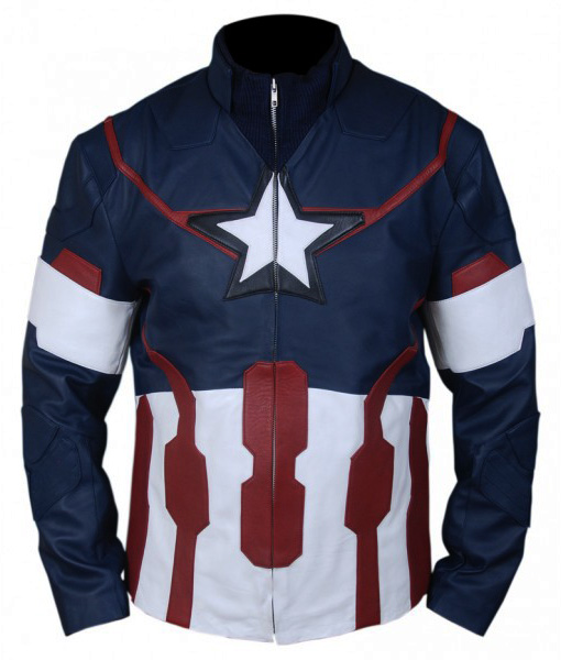 Avengers Age of Ultron Captain America Jacket Front