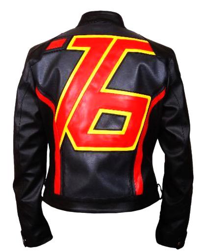 Soldier 76 Leather Jacket Black Back