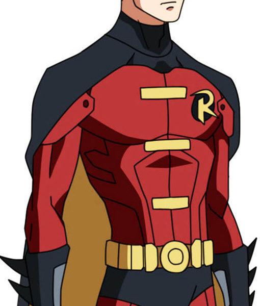 Batman Robin (Tim Drake) Red & Black Jacket