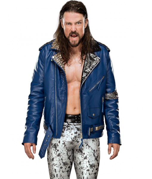 Brian Kendrick Blue Leather Jacket