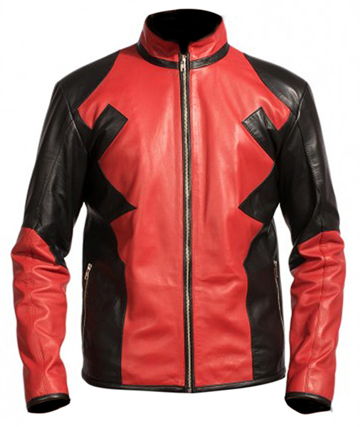 Deadpool-Leather-Hoodie-Front
