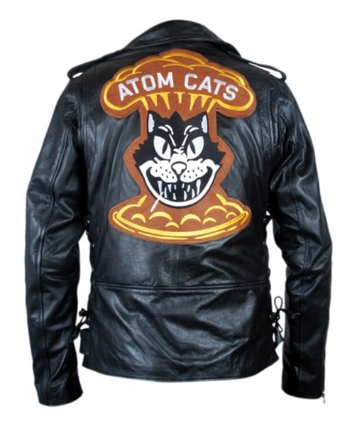 Fallout 4 Atom Cat Leather Jacket-Back