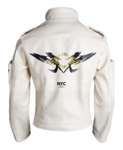 Kyo Kusanagi White Leather Jacket