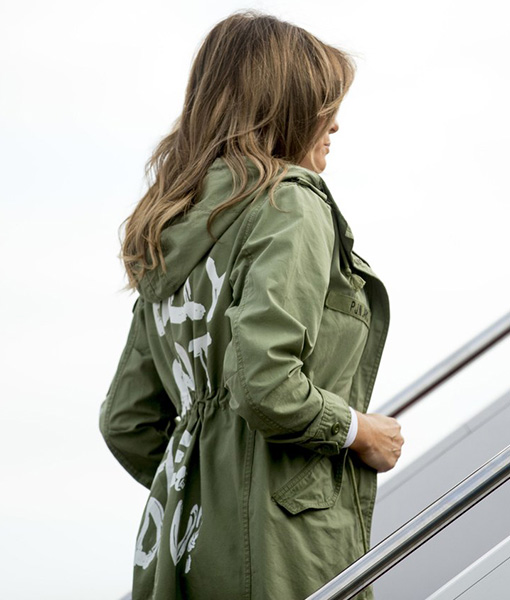 Melania Trump I Really Don't Care Jacket