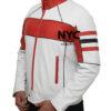 Mens Red Detailed White Biker Leather Jacket (3)