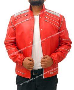 Michael Jackson Beat It Red Leather Jacket