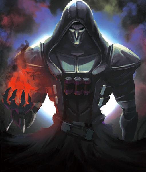 Overwatch Reaper Costume Coat In Black Color