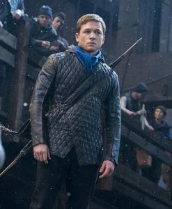 Taron-Egerton-Robin-Hood-Quilted-Jacket
