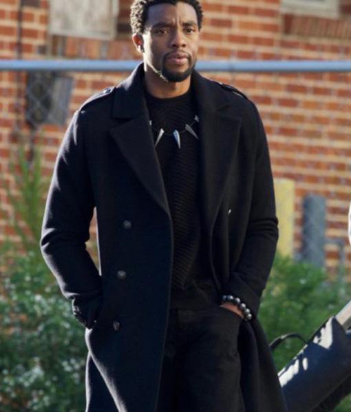 Black Panther Chadwick Boseman T Challa Coat