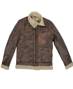Brad Pitt Brown Shearling Jacket