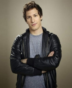 Brooklyn Nine Nine Andy Samberg Bomber Leather Jacket