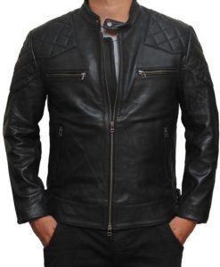 Motorcycle Style David Beckham Lambskin Jacket