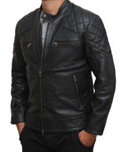 David Beckham Leather Jacket Motorcycle Style