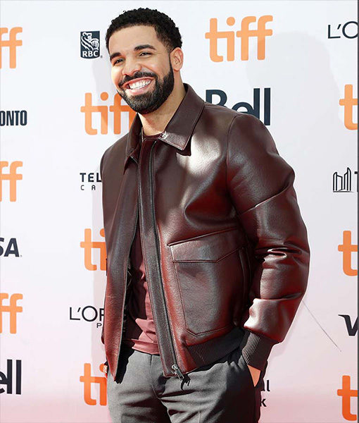 Drake Maroon Leather Jacket