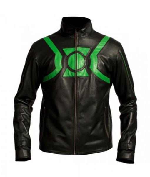 Green-Lantern-Leather-Jacket-Front