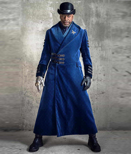 Into The Badlands Nathaniel Moon Blue Trench Coat