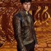 Krypton Seg El Distressed Brown Jacket