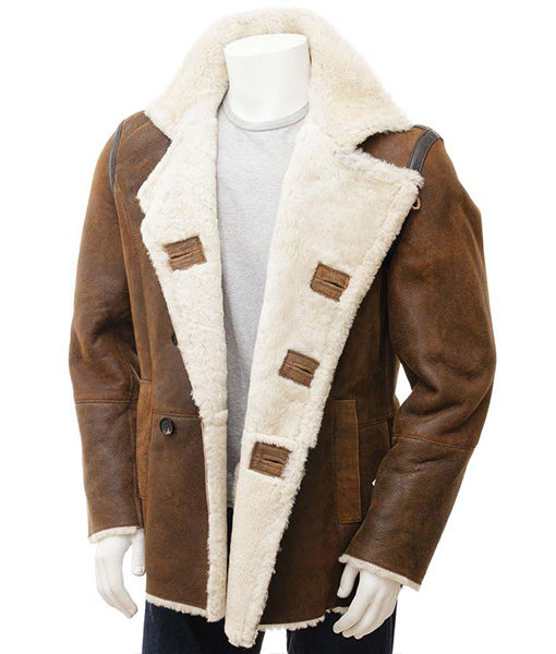Mens-Distressed-Brown-Double-Breasted-Coat-Front