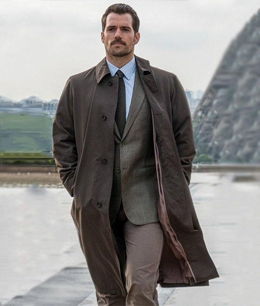 Mission Impossible Fallout Henry Cavill Brown Trench Coat