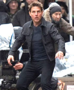 Mission Impossible Fallout Tom Cruise Black Cotton Jacket