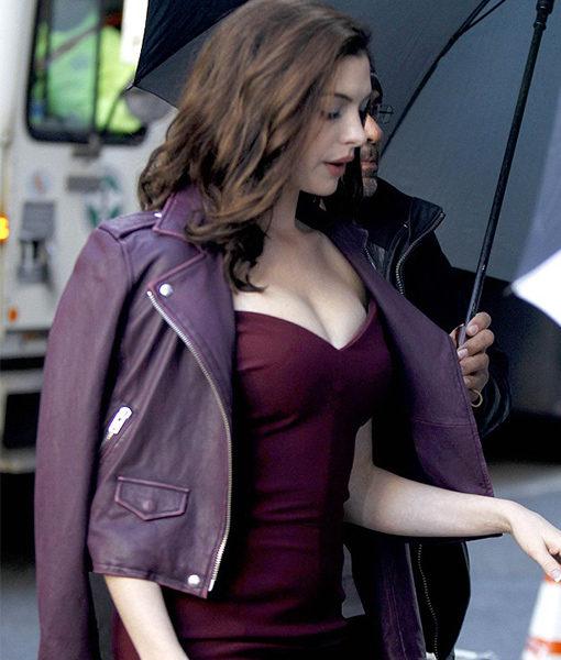 Oceans 8 Anne Hathaway Asymmetrical Leather Jacket