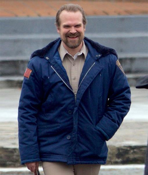 Stranger-Things-Jim-Hopper-Blue-Shearling-Hooded-Jacket-Front