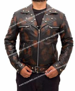 Fallout 3 Tunnel Snakes Rule Black Leather Jacket