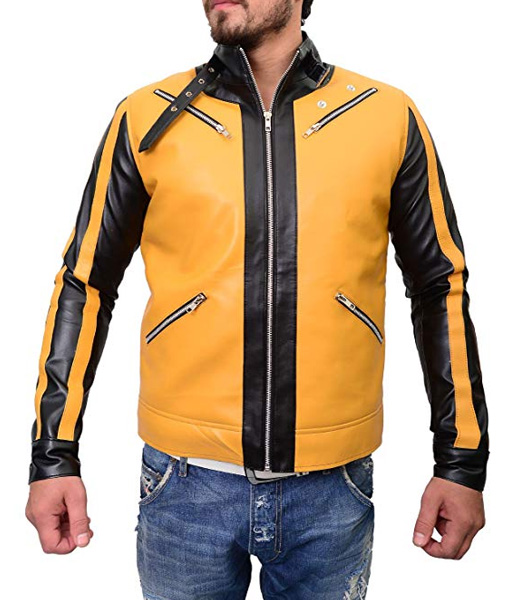 Wolfenstein 2 New Colossus Yellow Leather Jacket