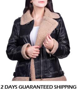 Lisa Black Aviator Jacket